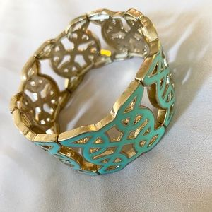 Turquoise and Gold Plated Fashion Bracelet